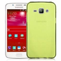 Rainbow Ultrathin Jelly Case Samsung Galaxy J1 J100 Kuning / Soft Case  Air Case Samsung J100 0.3mm / Silicone Case samsung J1 / Softshell Silikon Case Hp / Ultra fit / Casing Samsung j1  -  Transparant yellow
