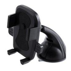 Rainbow Universal Mobile Car Phone Holder 360º Rotation for Smartphone Model WN 1080 / Penyanggah Smartphone Di Mobil - Hitam