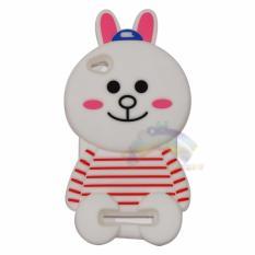 Rainbow Xiaomi Redmi 4A Silicone 3D Cony Line / Soft Case Karakter For Xiaomi Redmi 4A Boneka Kelinci Baju Garis Merah / Case HP Unik Lucu - Cony Line Merah Putih