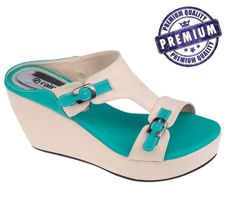 Jual Raindoz Sandal Wedges Wanita Cream Rjk 928 Raindoz Branded