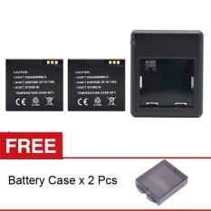 Beli Rajawali 2 Buah Battery Dan Charger For Xiaomi Yi Complete Set Gratis 2 Buah Battery Case Rajawali Online