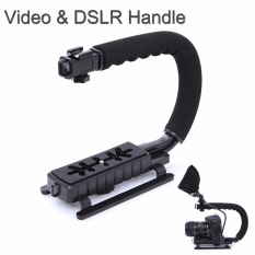 Rajawali Camera Stabilizer Grip C Shape Holder/Steadicam For Canon/Nikon/Sony/