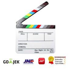 Harga Rajawali Clapper Board Papan Slate Take Action Acrylic Putih Fullset Murah