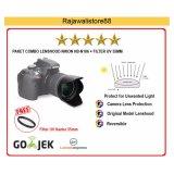 Spek Rajawali Combo Lenshood Hb N106 Filter Uv 55Mm Nikon Af P 18 55 Vr Nikon D3400 D5300 D5500