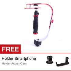 Rajawali Gimbal/Handheld Stabilizer/Steadicam HS-188 for DSLR/Mirrorless/Video Camera Free Holder L + Gopro Tripod Adapter