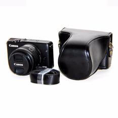 Rajawali Leather Case For Canon EOS M10 Kit 15-45mm - Hitam