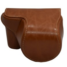 Rajawali Leather Case for Sony Alpha A5000/A5100 - Cokelat