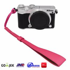 Rajawali Leather Wrist Strap For Camera-DSLR-Mirrorless-Pocket- Canon EOS M10-Nikon J5-Sony A5000-A6000- PINK