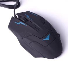Jual Rajfoo I5 Optical Wired Usb Gaming Mouse 1600 Dpi Hitam Biru Di Dki Jakarta