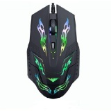 Top 10 Rajfoo I5 Optical Wired Usb Gaming Mouse 4 Shift Dpi With Led Light Black Online