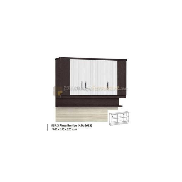 Rak Dapur Atas 3 Pintu Dan Rak Bumbu Graver Anata KSA 2653