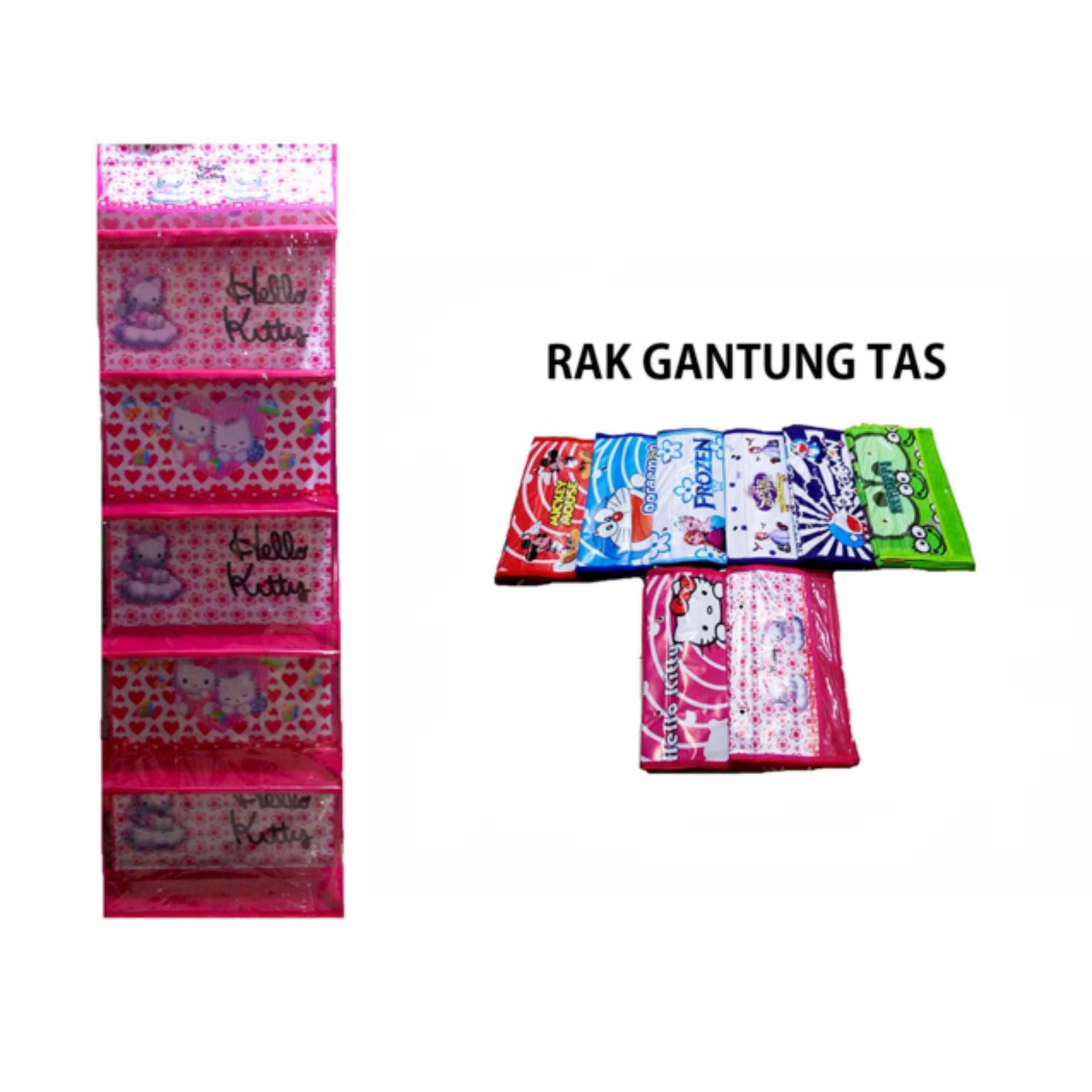 Rak Gantung Tas Resleting - Hanging Bag organizer ( Tidak dapat pilih Motif)