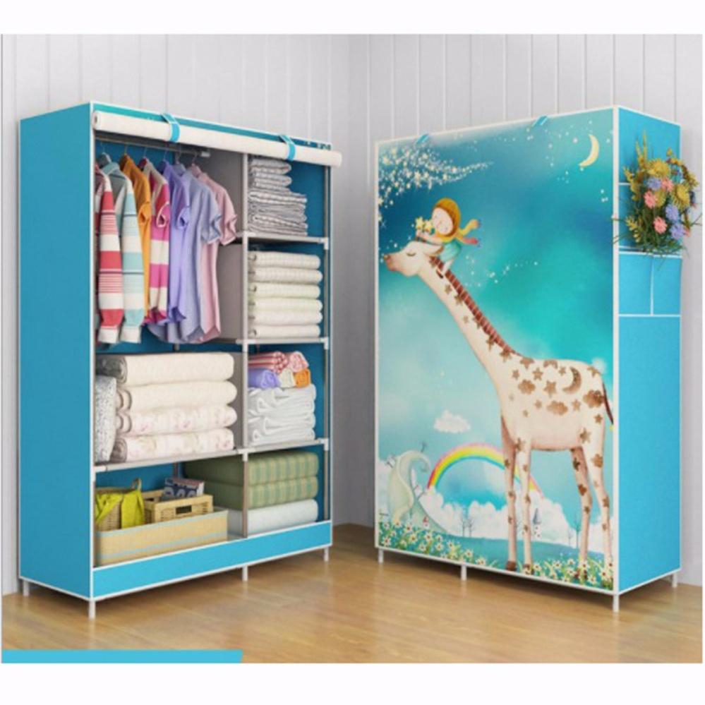Rak Pakaian Plastik Furniture Murah Lemari Baju Gantung Lemari Handuk Lemari Sprei Handuk Tas Giraffe