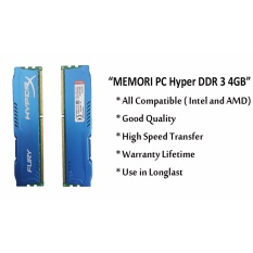 RAM Memori Pc DDR 3 4GB Hyper Kingston