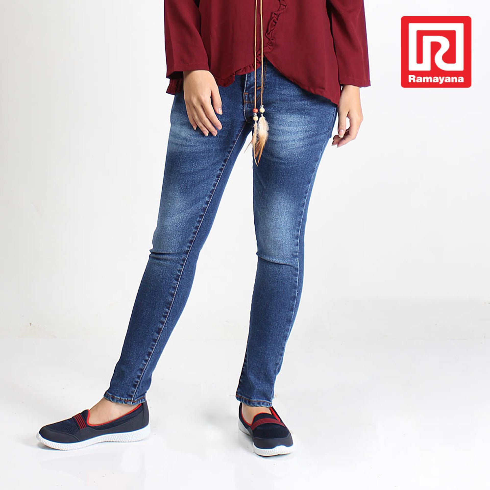 Harga Ramayana Jj Jeans Celana Jeans Panjang Wanita Regular Skinny Biru Biostone Jj Jeans 07965347 Yang Murah