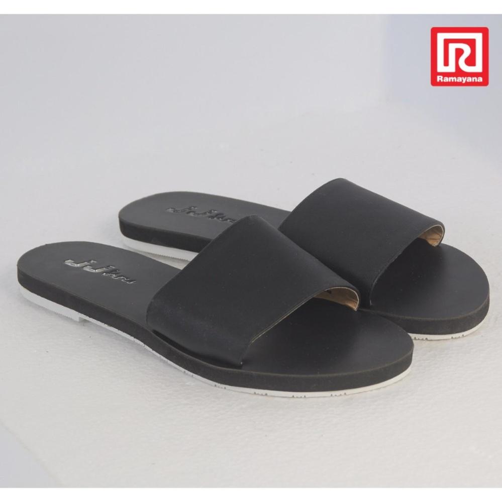 Diskon Ramayana Jj Shoes Sandal Flat Wanita Motif Kokop Hitam Jj Shoes 07970732 36 Branded