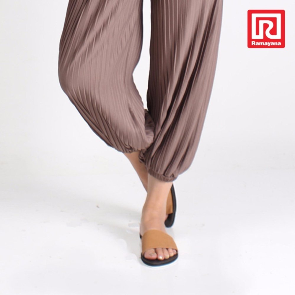Tips Beli Ramayana Jj Shoes Sandal Flat Wanita Motif Kokop Tan Jj Shoes 07970747 36