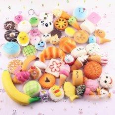Harga Acak 30 Pcs Jumbo Medium Mini Lembut Empuk Kue Panda Roti Buns Ponsel Tali Yang Bagus
