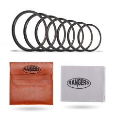 Cara Beli Rangers 7 Pcs Ultra Tipis Filter Lensa Kamera Step Up Rings 49Mm 77Mm Pvc Pouch Kain Pembersih Ra031