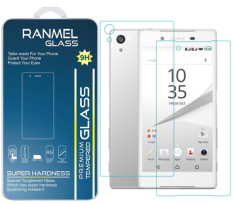 Ranmel Glass Tempered Glass for Sony Xperia M5 Depan Dan Belakang - Anti Gores Kaca /