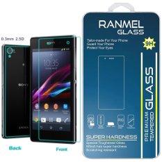 Promo Ranmel Glass Tempered Glass Glass Sony Xperia M4 Aqua Depan Dan Belakang Clear Anti Crash Film Di Dki Jakarta