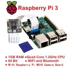 Toko Raspberry Pi 3 Model B 1Gb Ram Quad Core Wifi W Raspberry Pi Noir Camera Board Intl Online Terpercaya