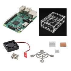 Spesifikasi Raspberry Pi 3 Model B V31 Case Akrilik Kipas 3 Heatsink Hijau Internasional Paling Bagus