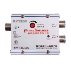 Jual Rayden Splitter Booster Tv Antena Cabang 2 Way Catv Signal Amplifier Satu Set