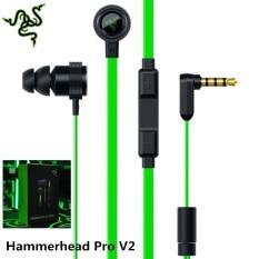 Razer Hammerhead V2 Pro In Ear Dengan Mic Gaming Headset Kebisingan Isolasi Stereo Deep Bass Ponsel Komputer Earphone Intl Asli
