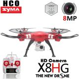 Harga Rc Quadcopter Syma X8Hg With 8Mp Hd Camera Altitude Hold Mode 2 4G 4Ch 6Axis Rtf Merah Lengkap