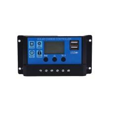Ready Stock Audio Electronics 20A USB LCD Panel Surya Regulator Baterai Charge Cerdas Controller-Intl