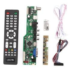 Harga Ready Stock Audio Electronics Tv Hdmi Vga Av Usb Audio Lcd Controller Board Modul Dukungan 1920X1080 Internasional Terbaru