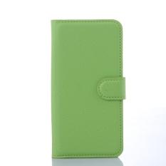 [Ready Stock] Fashion Kasus Telepon untuk Lenovo A5860/Golden Warrior S8 Retro Mewah Dompet Kulit Flip Cover Kasus Warna Solid Shell TSMY (Hijau) -Intl