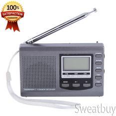 Spek Ready Stock Portabel Mini Radio Fm Mw Sw Penerima With Digital Alarm Clock Fm Radio Receiver Grey Tiongkok