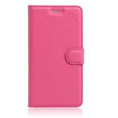 [Ready Stock] SZYHOME Ponsel Case untuk Alcatel GO Play OT7048X Mewah Retro Kulit Dompet Flip Cover Case Solid Warna Shell (Rose) -Intl