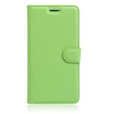 [Ready Stock] SZYHOME Ponsel Kasus untuk Alcatel One Touch Idol X OT6040D/OT6040 Mewah Retro Kulit Dompet Flip Cover Case Warna Solid Shell (Hijau) -Intl