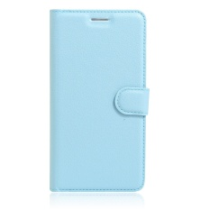 [Ready Stock] Szyhome Ponsel Case S untuk Alcatel One Touch Pixi 4 (6) 6.0 Inch 4g Mewah Retro Dompet Kulit Flip Cover Case Warna Solid Shell (biru)-Intl