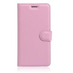 [Ready Stock] SZYHOME Ponsel Case untuk Lenovo ZUK EDGE Mewah Retro Kulit Dompet Flip Penutup Hitam Biru Coklat Hijau Merah Muda Ungu Merah Rose Putih Warna Solid Shell-Intl