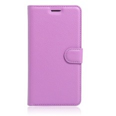 [Ready Stock] SZYHOME Ponsel Case untuk Lenovo ZUK EDGE Mewah Retro Kulit Dompet Flip Cover Case Solid Warna Shell (Ungu) -Intl