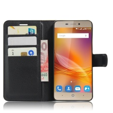 [Ready Stock] SZYHOME Phone Cases For ZTE Blade A452 Luxury Retro Leather Wallet Flip Cover Case Solid Color Shell ( Black ) - intl
