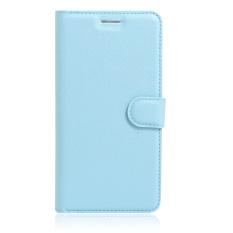 [Ready Stock] Szyhome Ponsel Case S untuk ZTE Blade A452 Mewah Retro Dompet Kulit Flip Cover Case Solid Warna Shell (biru) -Intl