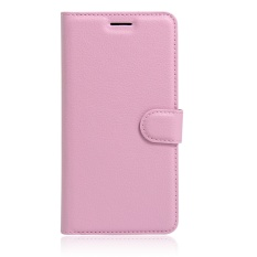 [Ready Stock] Szyhome Ponsel Case S untuk ZTE Blade A452 Mewah Retro Dompet Kulit Flip Cover Case Solid Warna Shell (pink) -Intl