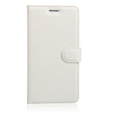 [Ready Stock] SZYHOME Ponsel Case untuk ZTE Blade V8 Lite Mewah Retro Kulit Dompet Flip Cover Case Solid Warna Shell (Putih) -Intl