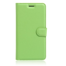 [Ready Stock] SZYHOME Ponsel Case untuk ZTE Blade V8 Lite Mewah Retro Kulit Dompet Flip Cover Case Solid Warna Shell (Hijau) -Intl