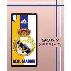 Real Madrid Logo Q0049 Casing Custom Hardcase Hp Sony Xperia Z4 Case Cover PP4V