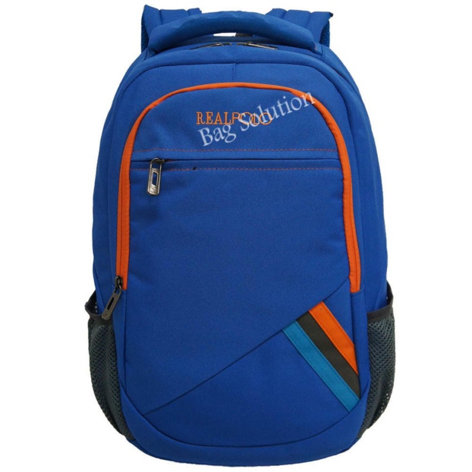 Jual Real Polo Tas Ransel Laptop Kasual Tas Pria Tas Wanita 6356 Backpack Up To 15 Inch Bonus Bag Cover Biru Termurah