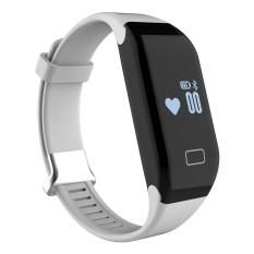 Reautiful Fitness Tracker dengan Heart Rate Monitor Aktivitas Watch Langkah Berjalan Sleep Counter Wireless Gelang Pedometer Pelacakan Olahraga Sweatproof Sports Gelang untuk Android dan IOS Ungu-Intl