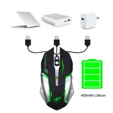 Harga Rechargeable T1 Wireless Silent Led Backlit Usb Optical Ergonomic Gaming Mouse Intl Branded
