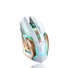Isi Ulang T1 Wireless Silent LED Backlit USB Optical Ergonomis Gaming Mouse-Internasional