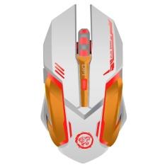 Rechargeable Wireless Gaming Mouse 7-warna Backlit Nafas Kenyamanan Gamer Mice untuk Komputer Desktop Laptop NoteBook PC-Intl